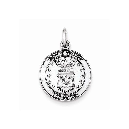 Sterling Silver US Air Force Medal Charm