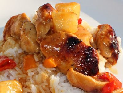 Curts Delectable Creations: Curts Delectable Peach Glazed Spiced Chicken