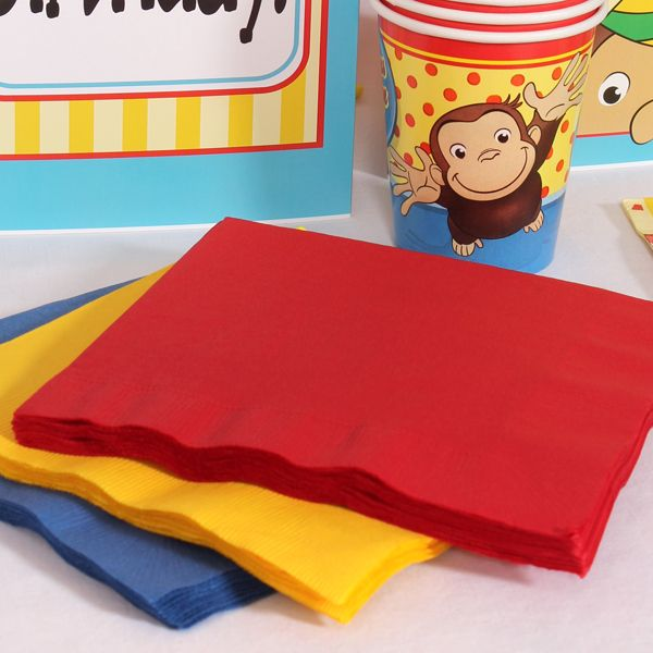 Curious George Coordinating Lunch Napkin Set (60)