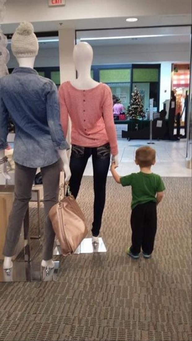 Hahahaha! I'll have to use this idea when I have kids and need them to stand still while shopping