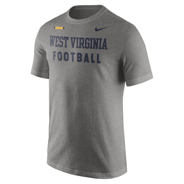 Show your support for our Mountaineer Football team with this WVU Nike Facility T-Shirt. Dress for success with our WVU football tee.