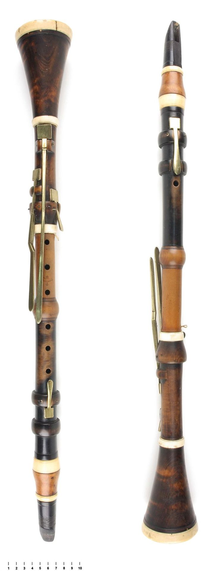 Baroque Clarinet in C 1770 T. COLLIER / LONDON Boxwood, Ivory, Brass and Ebony- Unusual Mix of materials