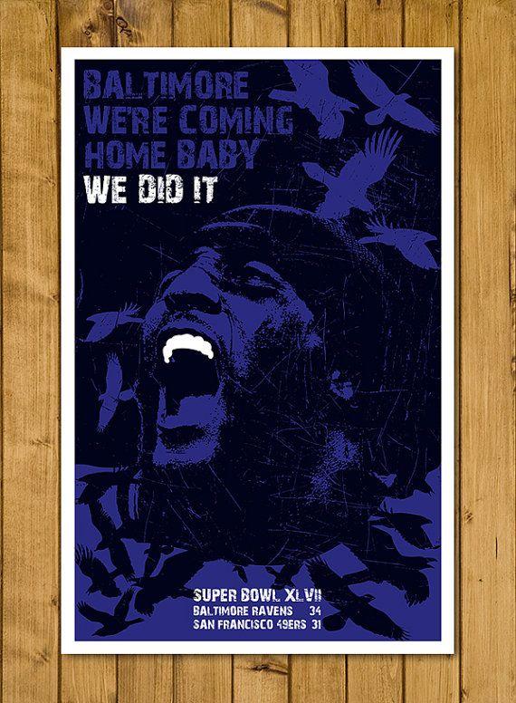 """Baltimore Ravens - Ray Lewis Super Bowl Poster (11 x 17"""")"""