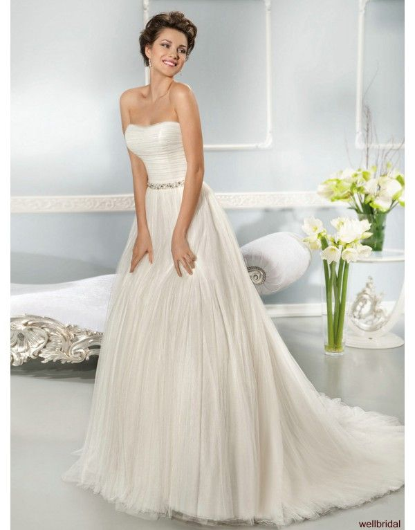 luxusní svatební tylové krémové šaty Arianna XS-M - Hollywood Style E-Shop