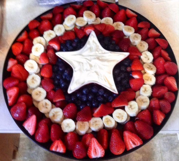 Captain America shield fruit tray
