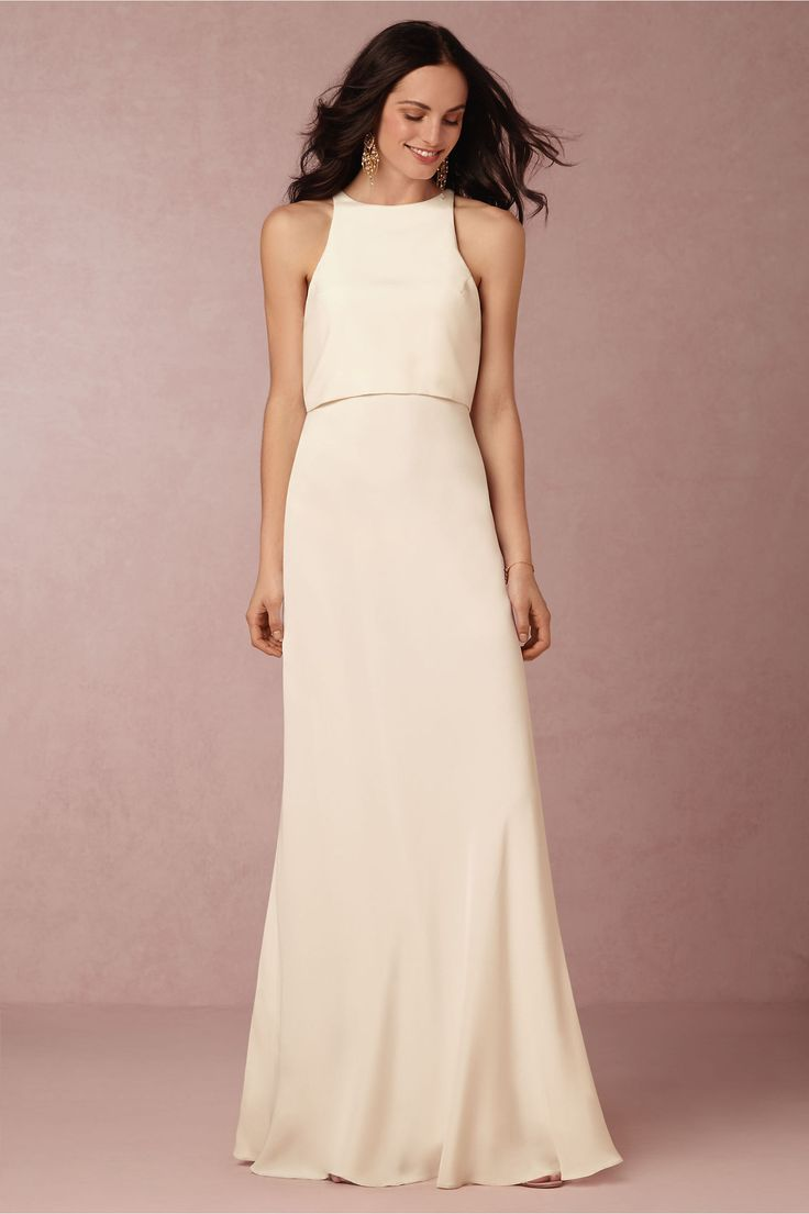 bridal showers or reception dress iva crepe maxi from