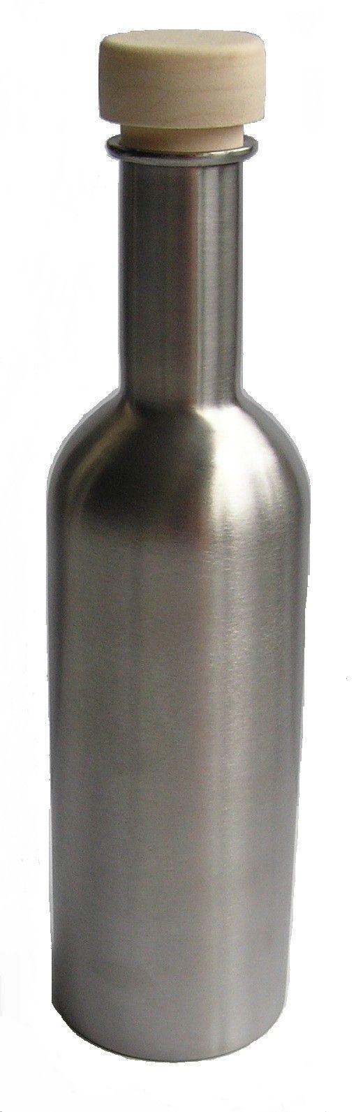 Botella para agua de acero inoxidable de 250 ml., ideal para transportarla en mochilas o bolsaos, usarla en casa o en la oficina. También para los más pequeños de la casa, por sus características higiénicas, y porque no se rompe.