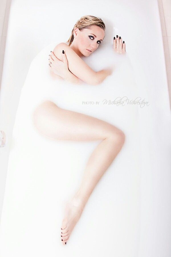 Milk bath photography