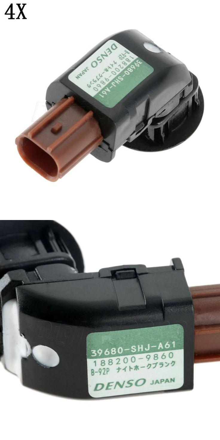 [Visit to Buy] 4pcs PDC Parking Sensor Bumper Object Reverse Backup Radar 39680-SHJ-A61 39680SHJA61 For Honda Odyssey 2005-2009 CRV 2004-2013 #Advertisement