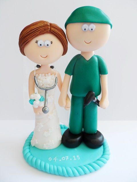 Surgeon Groom And His Doctor Wife Wedding Cake Topper Not Edible A Lifetime Keepsake