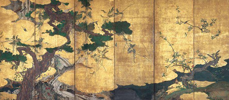 Tohaku | Hasegawa Tohaku- Birds and Flowers