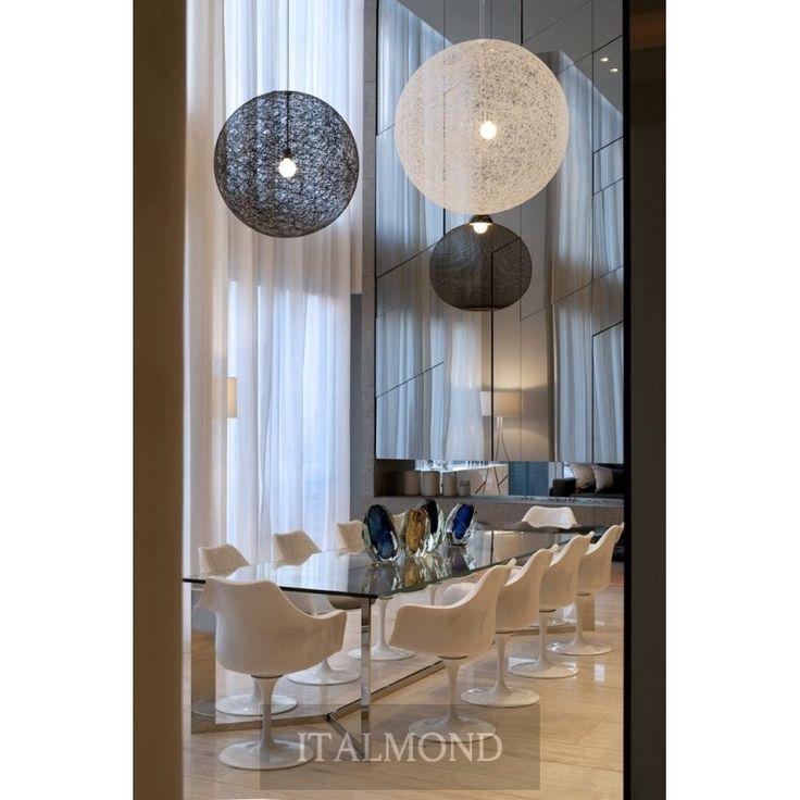 Люстра Светильник RANDOM LIGHT small, производитель MOOOI, цвета и декор: черный, белый , современный стиль. Италия