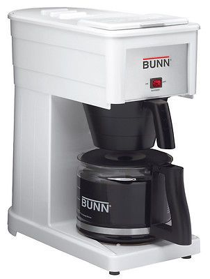 appliances: Bunn 10-Cup White Professional Coffee Maker Grx-W BUY IT NOW ONLY: $112.99
