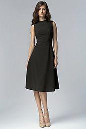 Elegancka sukienki MIDI - czarny