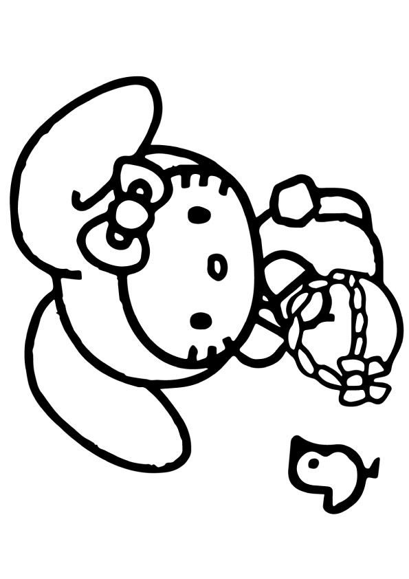 pretty hello kitty coloring pages - photo#38