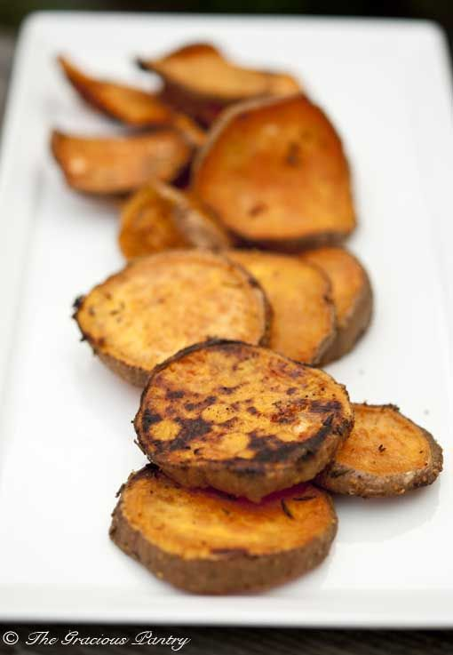 Clean Eating BBQ Rosemary Sweet Potatoes