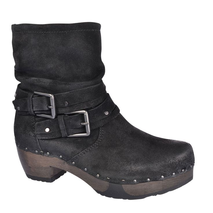 SOFTCLOX Jacqueline Bailey schwarz #softclox #munich #fall #fallshoes #fallfavorites #autumn #blackshoes #woddensole #black #velourslather