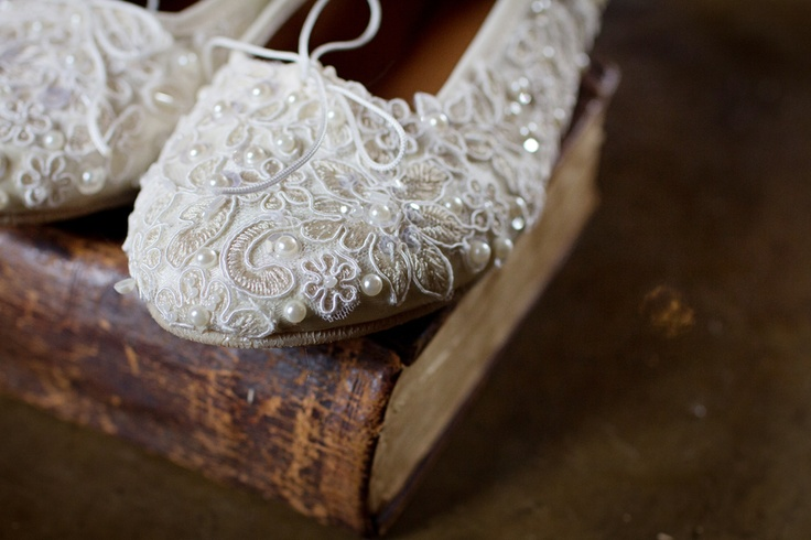 Wedding Shoes from my dress material