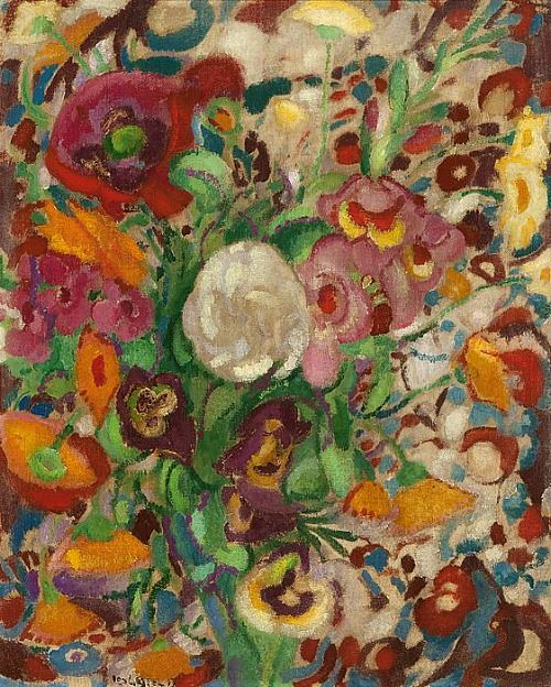 stilllifequickheart:  Leo Gestel Colorful Flowers 1913