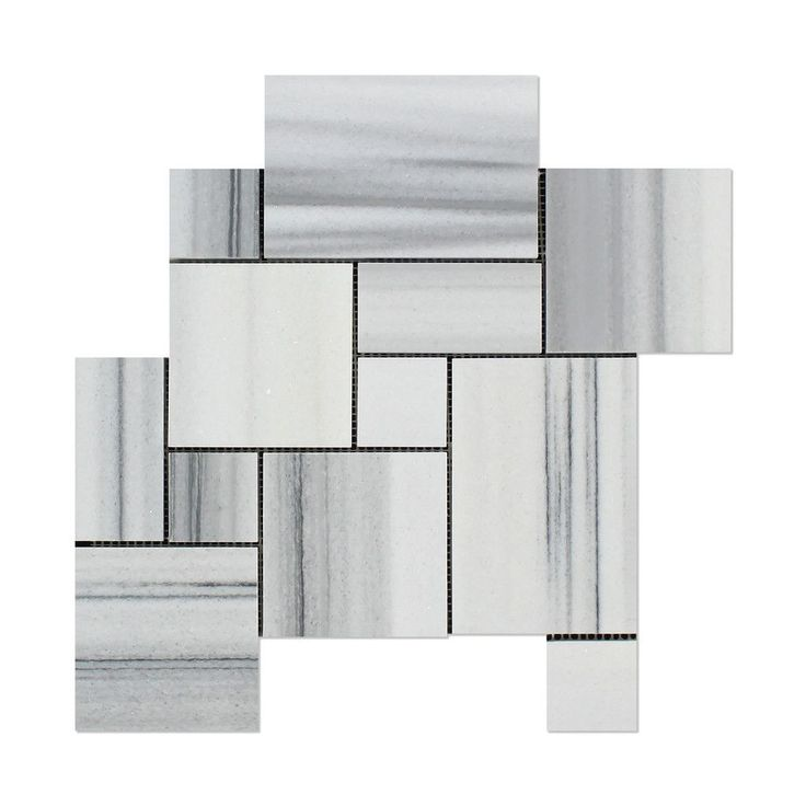 Mink Marmara Equator Marble 4-Pieced OPUS Mini-Pattern Polished Mosaic Tile