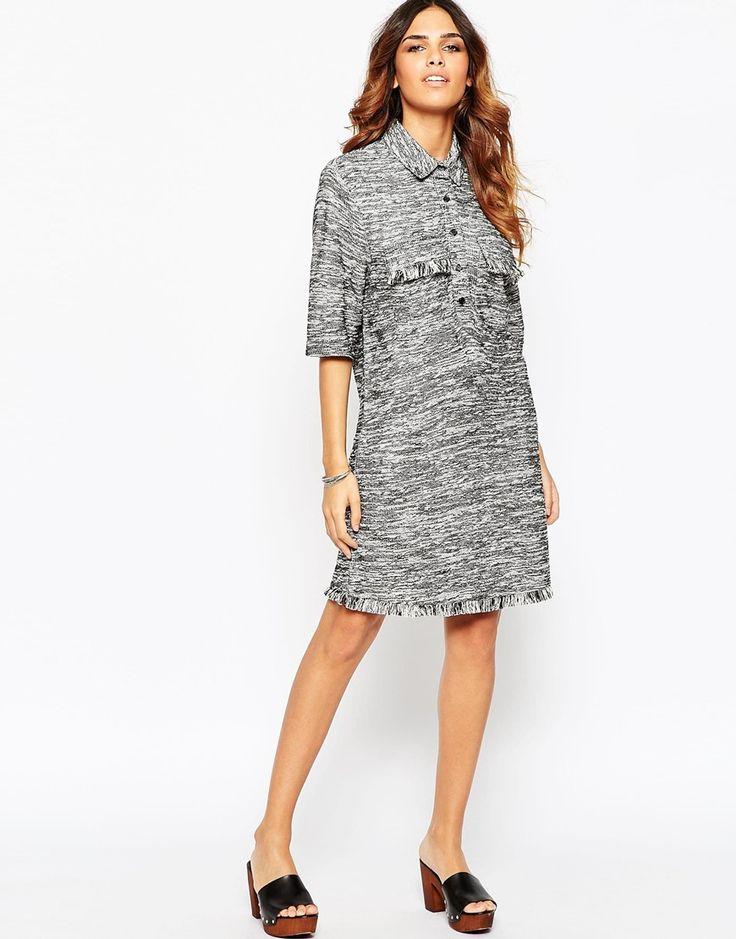 Image 4 ofASOS Frayed Shirt Dress