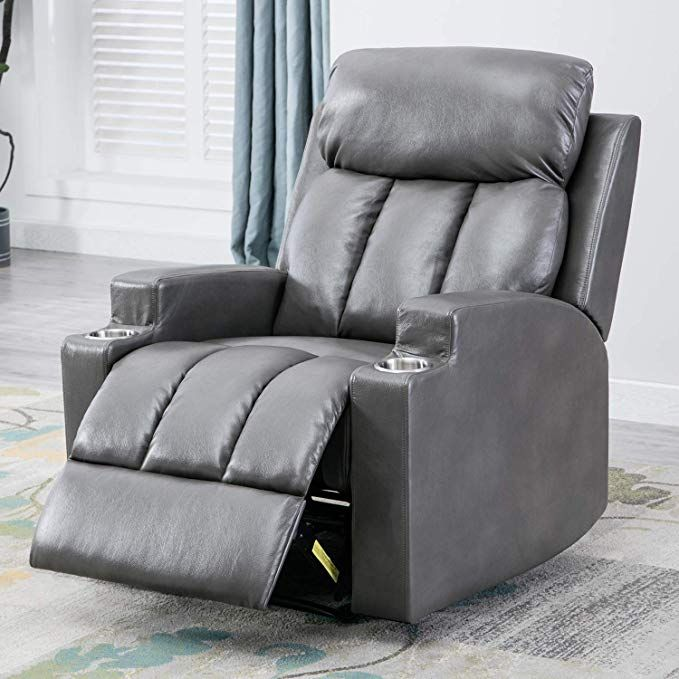 Bonzy Home Recliner Chair Leather Manual Lift Recliner with