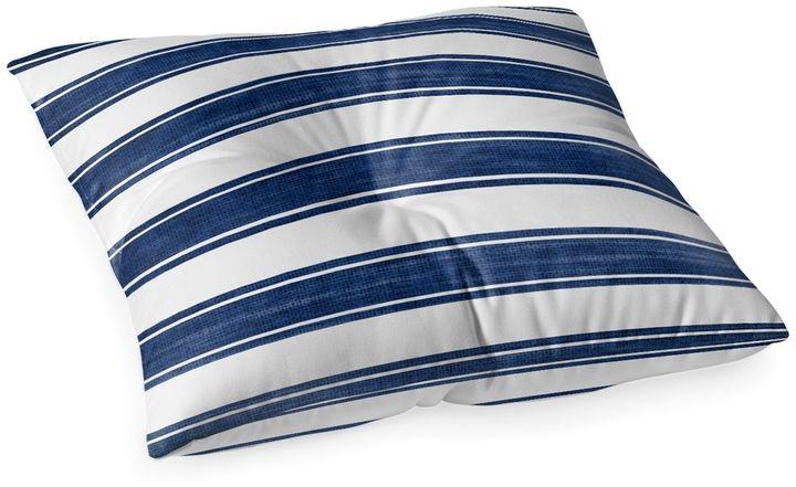 Kavka Designs Nautical Stripe Square Floor Pillow