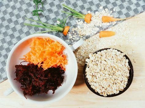 Babybrei ab 10 Monate(bzw. 8 Monate) - Haferbrei mit Möhren & Rote Beete - mehr zum Haferbrei unter: http://babybrei-kochen.de/getreidebrei/haferflocken-babybrei/