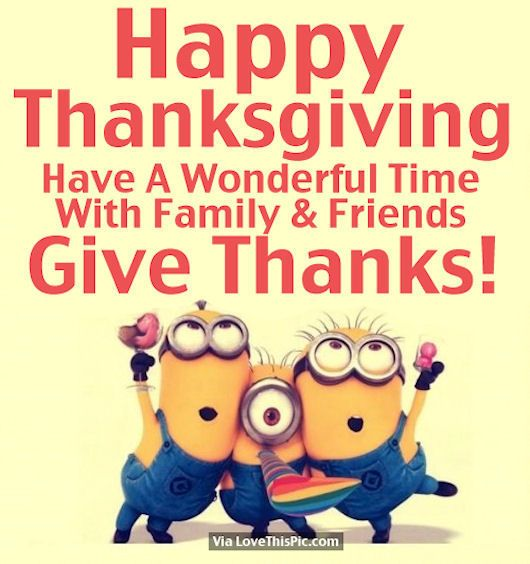 Minion Happy Thanksgiving Quote For Friends And Family Pictures ...