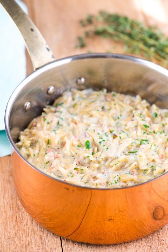 Creamy Pancetta Orzo Risotto