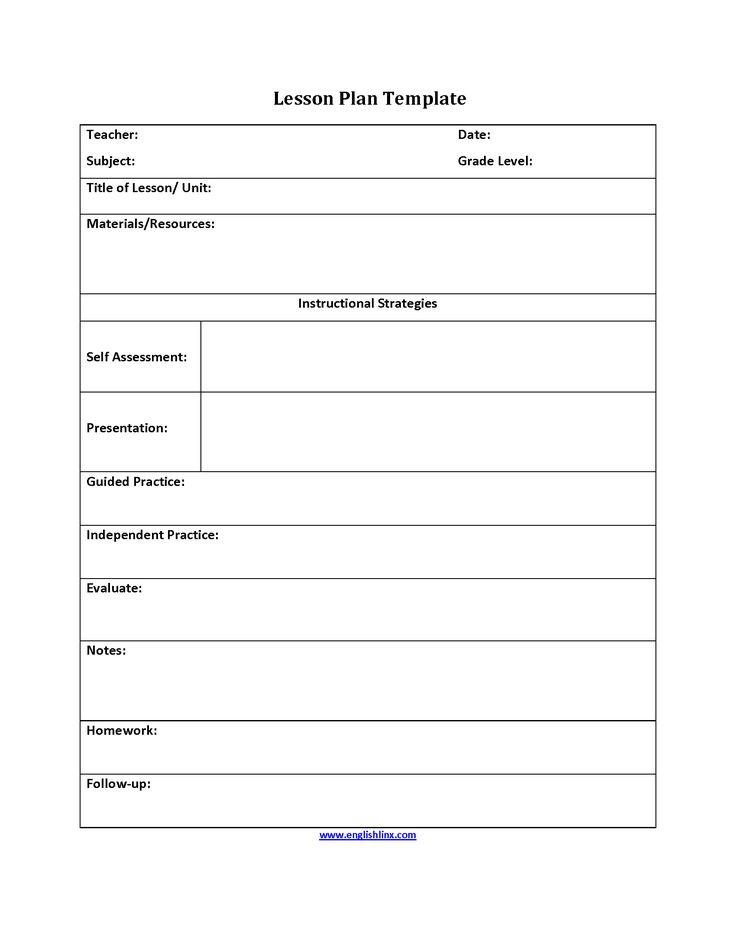 Six Step Lesson Plan Template  Interactive Grammar Book