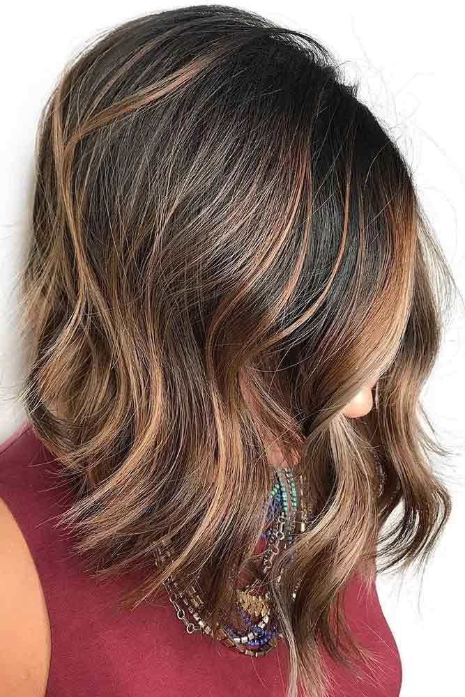 Highlights for dark brown hair are extremely versatile, in case you didn't kno...