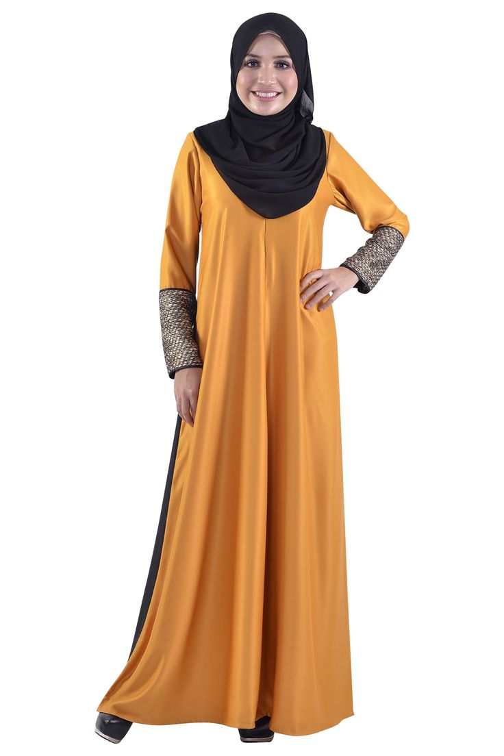 Twinkle and Tweed Dress Muslimah in Yellow Gold-Jubah & Abaya