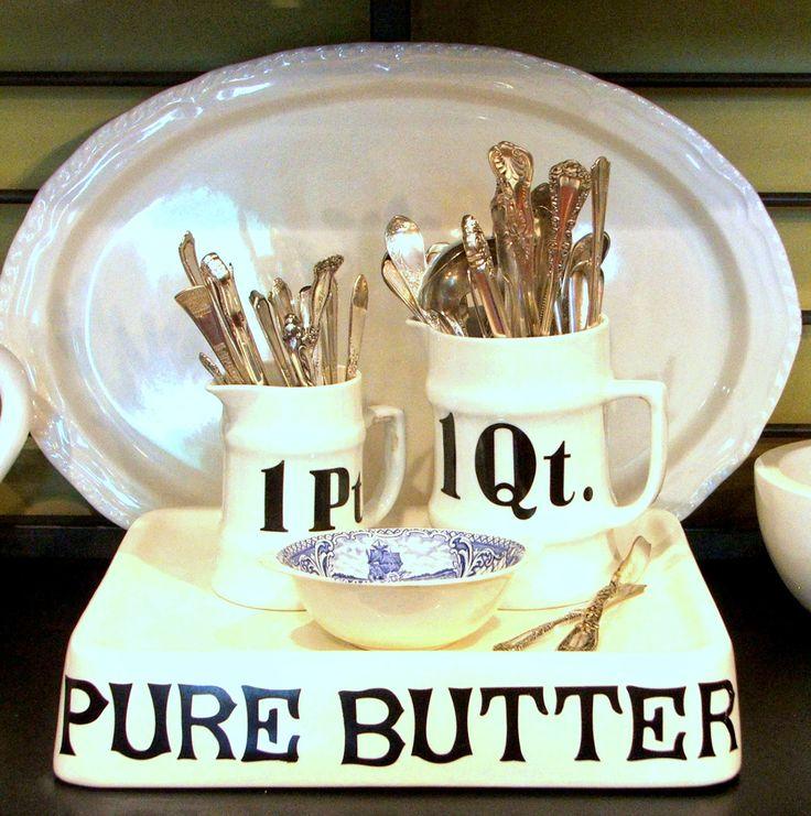 Minimalist Bathroom Tutorial: Butter Crock, Bottles And Jars