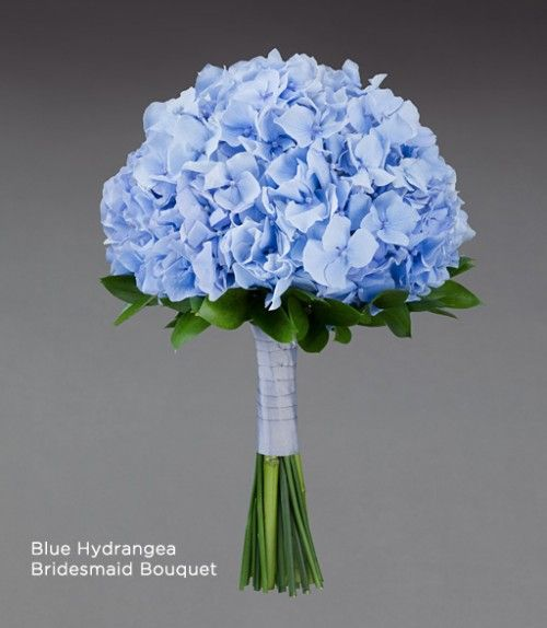 Ramo de flores para novia en color azul