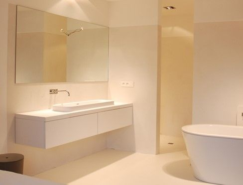 Marike - C7 Bathroom basin in residential project. For more of our products, take a look at www.marike.com/... #bathbasins #bathroom #basins #himacs #corian