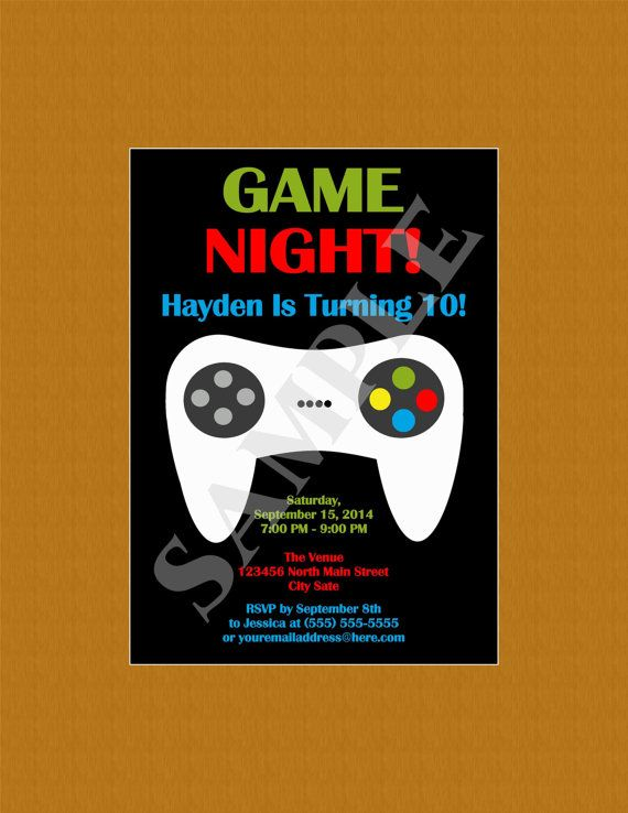 229 best Game Truck Party images on Pinterest Xbox party - fresh birthday invitation video templates