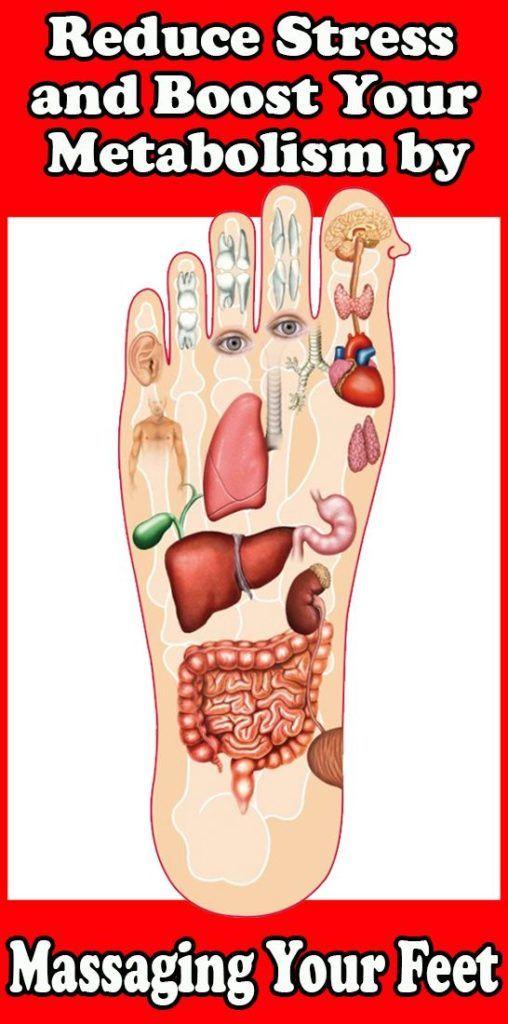 Ridurre lo stress e aumentare il metabolismo massaggiando i piedi