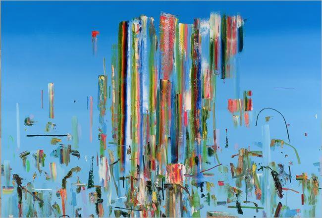 "Pintura abstracta de Tomori Dodge, Obra titulada ""Daisy Cutter"" (Corte de Margarita)"