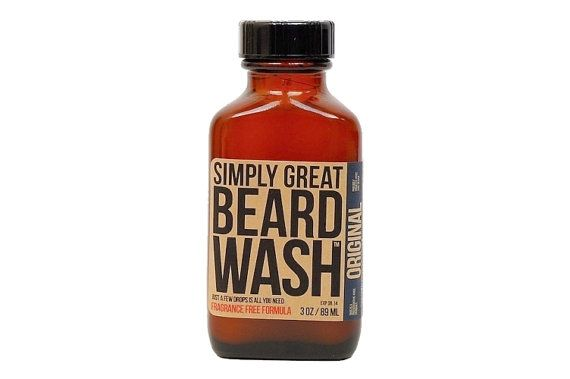All-natural beard wash.
