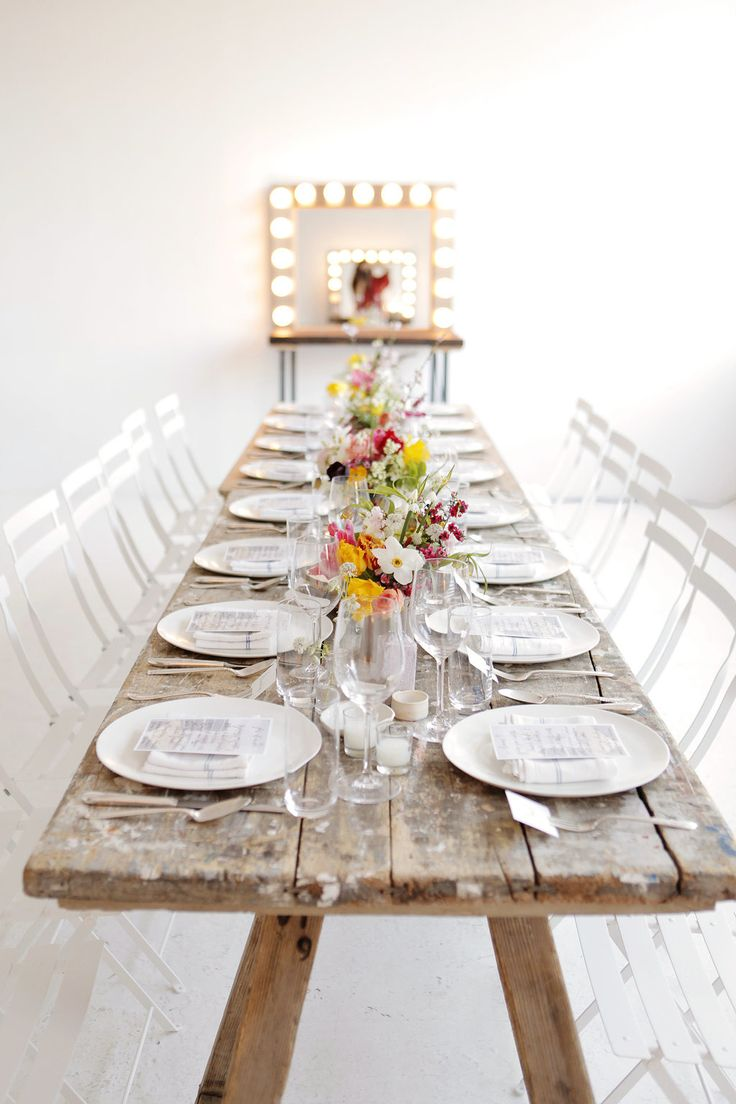 #rustic, #tablescapes, #dinner-party  Photography: Belathee Photography - belathee.com  Read More: http://www.stylemepretty.com/living/2014/06/12/manhattan-dinner-party/