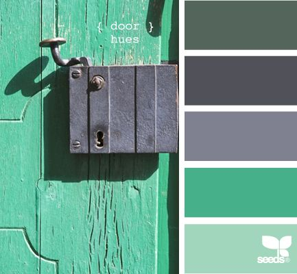 Color combo: Colors Combos, Green Doors, Design Seeds, Color Schemes, Bedrooms Colors, Colors Palettes, Colors Schemes, Colour Palettes, Doors Hue