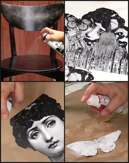 An IKEA dining chair gets the Fornasetti treatment, thanks to Mark Montano. And the result is rather brilliant.
