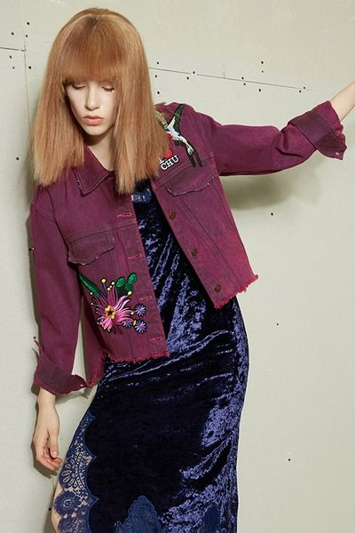 STH Purple Denim Jacket
