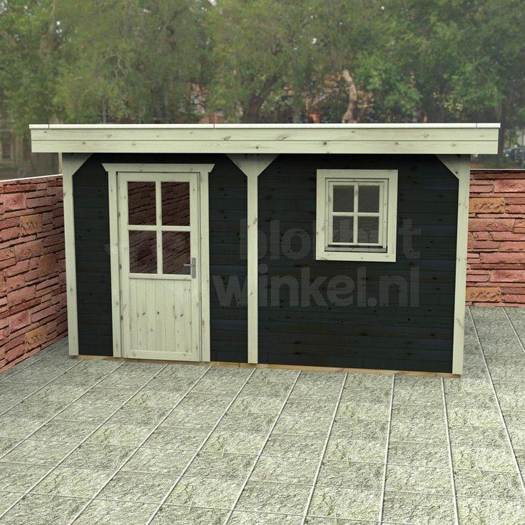 Dompel geïmpregneerde Flexford blokhut New Jersey 500x500 geïmpregneerd met plat dak. Standaard geleverd met 1x enkele deur 80x186cm. De fundamentmaat van deze blokhut is 492x492cm. De buitenmaat is ca. 500x500 cm. De overstek van de Flexford blokhut New Jersey 500x500 geïmpregneerd is 30cm rondom (m.u.v. achterzijde) (vanaf de wand gemeten). Standaard geleverd met EPDM als dakbedekking (met 25 jaar garantie!).