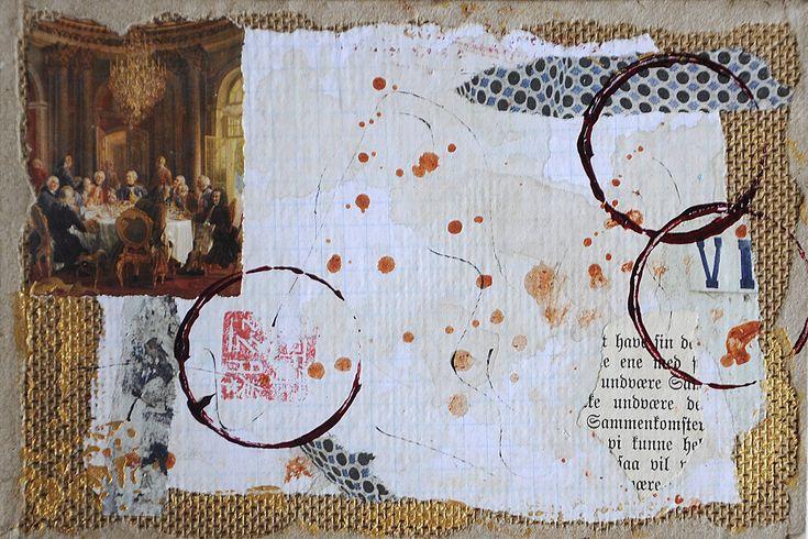 Collage on fiberwood