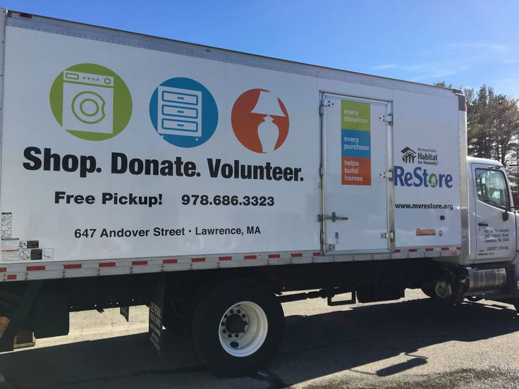 Shop. Donate. Volunteer. Every donation, every purchase builds home.  Merrimack Valley Habitat for Humanity partnered with General Truck Center, Elwell Design and Wrap Solutions to bring our newest ReStore truck. Great truck. Great design. Great wrap. Thank you. We would not doing it without you! #MerrimackValleyHfH MVHH