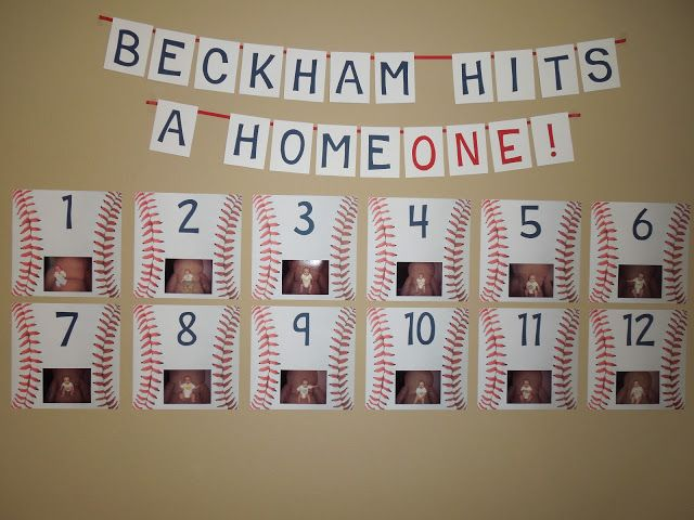 I wanted to share some details and pictures of Beckham's 1st birthday party! He turned ONE November 19 and has completely morphed into this Tasmanian devil ever since. It's crazy! A couple of months before his birthday, I finally decided on a BASEBALL theme. Ryan played minor league ball for several years after college and it's a big part of our dating relationship, so I