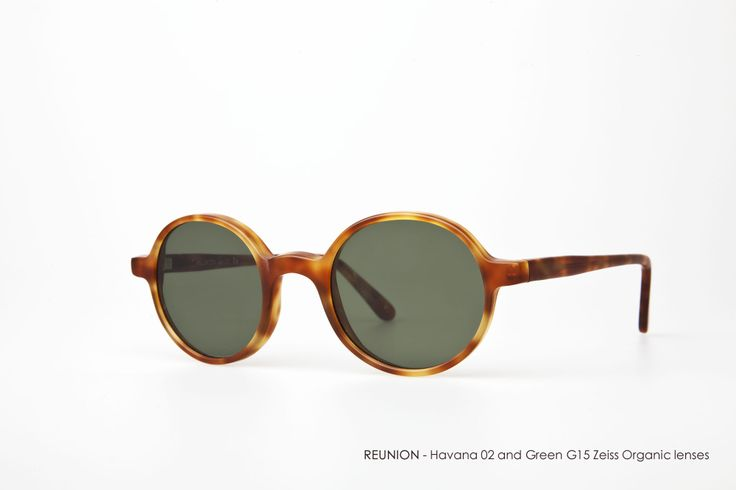 REUNION - Havana 02 with Green G15 mineral tempered lenses