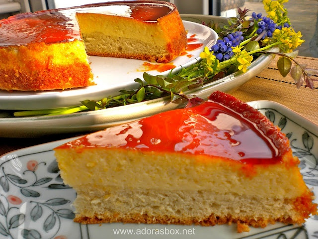 Leche Flan Cheesecake, looks good, won't be trying it again.